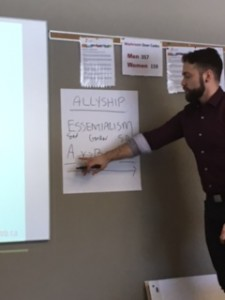Jared facilitating ally training